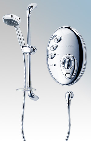 Electric shower triton aspirante remote electric shower for Housse aspirante