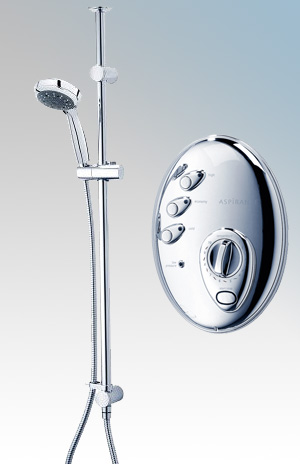 Electric shower triton aspirante topaz electric shower for Housse aspirante